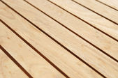 Wooden surface of outdoors table — Stock Photo