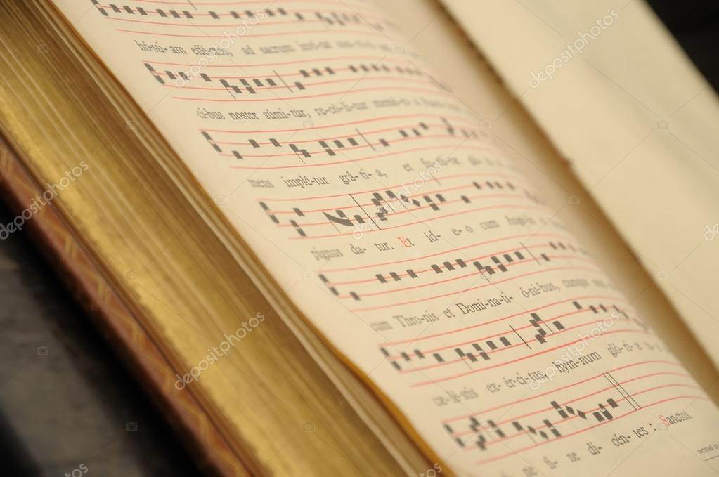 Pages of an open music book. — Stock Photo #12284423