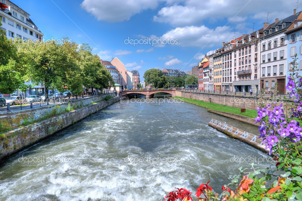 View of Strasbourg from the bridge  Stock Photo #12286694