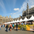 BRUSSELS, BELGIUM-SEPTEMBER 1: Thousands of tourists were attracted to Grand Place by Belgian Beer Weekend started on September 1, 2012 in Brussels. - Stock Photo