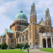 Koekelberg basilica is one of architectural symbols of Brussels - Stock Photo