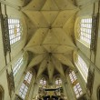 Interior of Petit Sablon church in Brussels, Belgium - Stock Photo