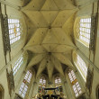 Interior of Petit Sablon church in Brussels, Belgium - Stok fotoğraf