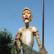 BRUSSELS, BELGIUM-SEPTEMBER 9: Giant Knight character in defile during annual Fete des Saltimbanques on September 9, 2012 in Brussels. — Stock Photo