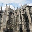 Gothic church in brussels, belgium - Stock Photo