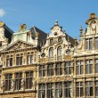 Medieval facades of Grand Place in Brussels in sunny day — Stock Photo #12861464