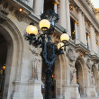 Stylish old lantern near French Opera building in Paris, France in evening — Stock Photo