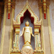 Statue on the wall of Buddhist temple in Thailand island Phuket — Stock Photo #12863258