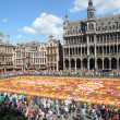 Stock Photo: BRUSSELS, BELGIUM-AUGUST 15: Flower Carpet 2012 with Africtheme attracted thousands of tourists on August 15, 2012 in Brussels. This biennial public event has different theme every time.