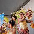 BRUSSELS, BELGIUM-SEPTEMBER 9: Unidentified folkloric dancers perform in a show during Essence of Thailand VII celebration on September 9, 2012 in Brussels. — Stock Photo