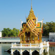 Beautiful Buddhist temple on water in Thailand — Stock Photo