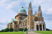Koekelberg basilica is one of architectural symbols of Brussels — Stock Photo