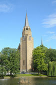 Church in Brussels on place Flagey — Stock Photo