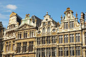Medieval facades of Grand Place in Brussels in sunny day — Стоковое фото