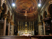 Interior of catholic church in Turin, Italy — Stockfoto