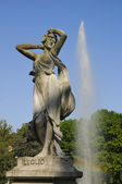 Months fountain in Valentino park in Turin — Foto de Stock