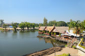 River Kwai in Thailand and surrounding landscape — Stock Photo
