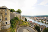 Panoramic view of Namur and medieval citadel, Belgium — Stock fotografie