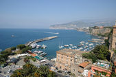 Sunny italian city Sorrento in summer quiet day — Stock Photo