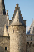 Tower of Steen Castle in Antwerp in clear day — Stock Photo