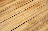 Wooden outdoors table under sun — Stock Photo