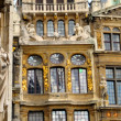 Stock Photo: Details of medieval architecture of building on Grand Place in Brussels