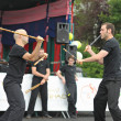 Martial arts exercise during Asia & U festival on June 10, 2012 in Brussels — Stock Photo