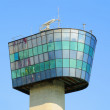 The control Tower of port in Genoa - Stock Photo