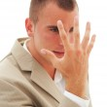 Stressed young man explains emotionally using body language — Stock Photo