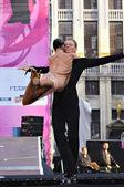 在法语社区的庆祝活动期间新广场的演唱会 — 图库照片
