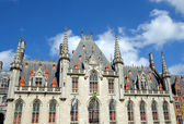 Medieval City Hall in Brugge, Belgium — Stockfoto