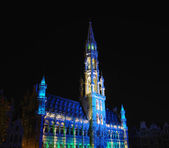 Medieval tower on Grand Place in Brussels — Stock Photo