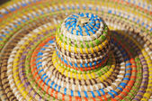 Details of African style summer hat — Stock Photo