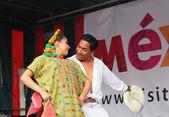 Xochicalli Mexican folkloric ballet shows national dances — Stock Photo