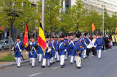 A parade to commemorate the battle for Independence of Belgium in 19 century — Stock Photo