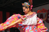 Xochicalli Mexican folkloric ballet performs in a concert on Grand Place — Stock Photo