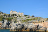 Medieval fortification near Portovenere — Stock Photo