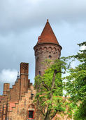 Medieval fortification in Brugge — Stock Photo
