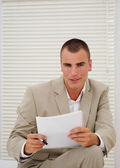 Young job seeker before interview — Stock Photo