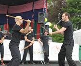 Dövüş sanatları asya & u festival süresince 10 haziran 2012 tarihinde brüksel'egzersiz — Stok fotoğraf