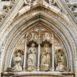 Medieval statues from facade of St. Michael and St. Gudulcathedral — Stock Photo #23924123