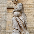 Statue at The Saint-Nicolas Church — Stock Photo