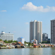 Chao Phraya river in Bangkok - Stock Photo