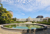 Historical Botanique garden in center of Brussels — Stock Photo