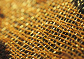 Macro image of decorative asian fabric — Stock Photo