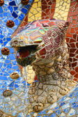 Dragon fountain in Park Guell — Stock Photo