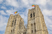 Top of the Cathedral of St. Michael and St. Gudula in Brussels — Stock Photo