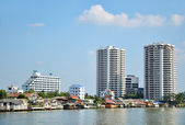 Chao Phraya river in Bangkok — Stock Photo