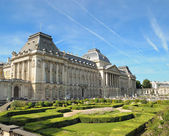 Palace of the king in historical center of Brussels — Stock Photo