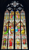 Window in Cologne Cathedral — Stock Photo